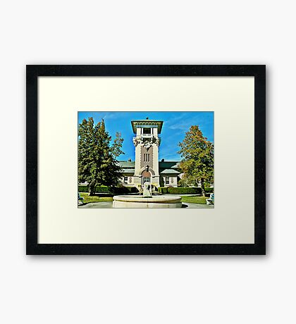 """""""The Clock Tower Building, Mountain Home, Tennessee""""... prints and products Framed Print"""