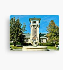 """""""The Clock Tower Building, Mountain Home, Tennessee""""... prints and products Canvas Print"""