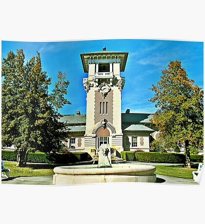 """""""The Clock Tower Building, Mountain Home, Tennessee""""... prints and products Poster"""
