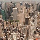 Buildings from up high - New York City by Olivia Son