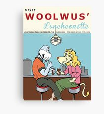 Woolwus' Luncheonette Canvas Print