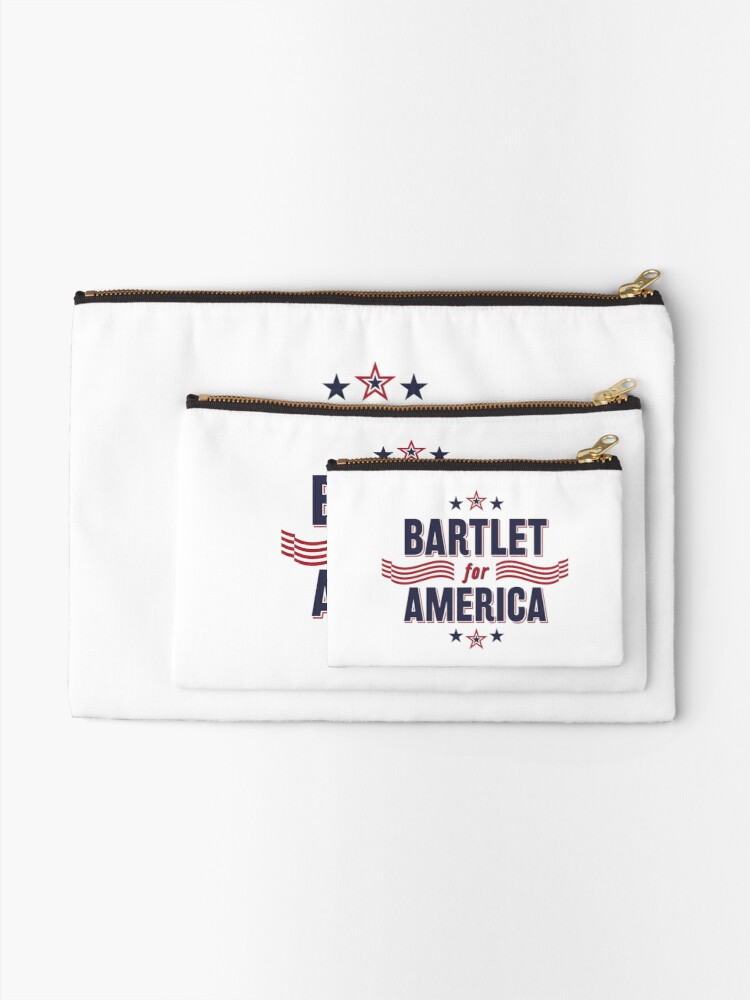 Alternate view of Bartlet For America — NEW DESIGN!!! Zipper Pouch