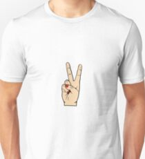 Peace Hand with Scarlet Nails Unisex T-Shirt