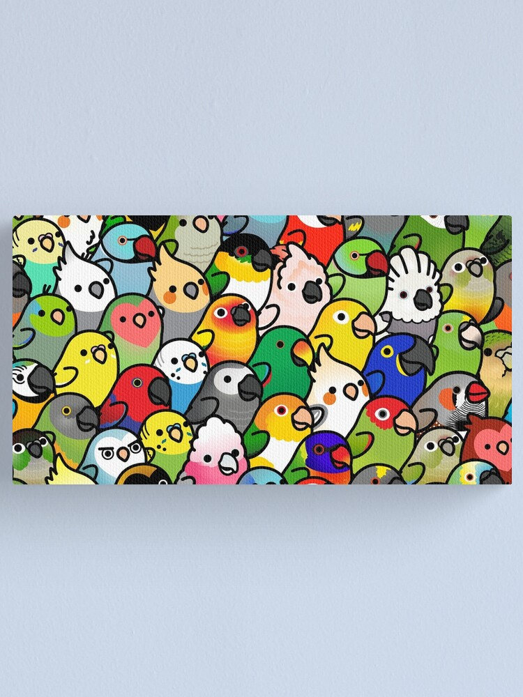 Alternate view of Everybirdy Pattern Canvas Print