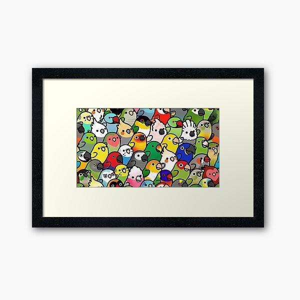 Everybirdy Pattern Framed Art Print
