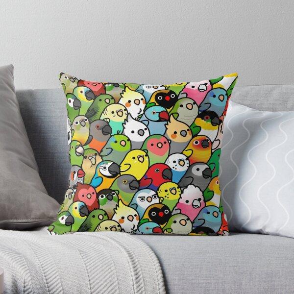 Everybirdy Pattern Throw Pillow