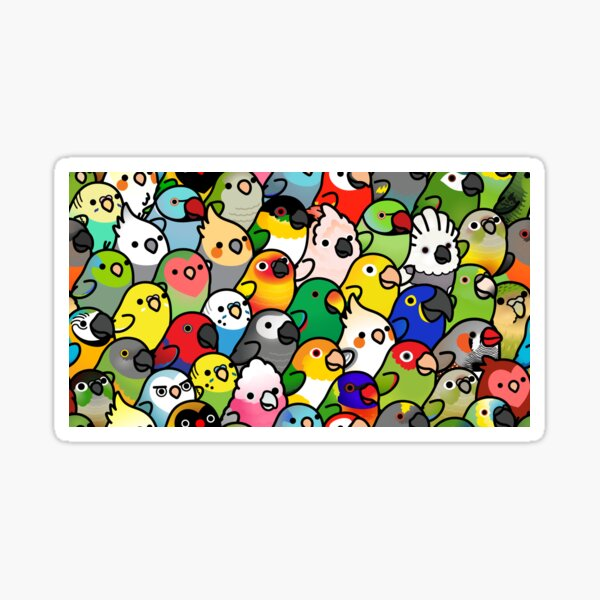 Everybirdy Pattern Sticker