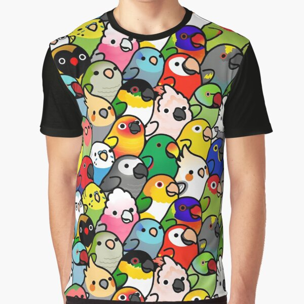 Everybirdy Pattern Graphic T-Shirt