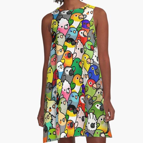 Everybirdy Pattern A-Line Dress