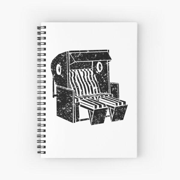 Beach chair illustration by Clarissa Schwarz Spiral Notebook