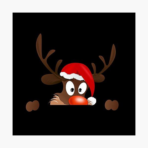 Reindeer Rudolph Photographic Print