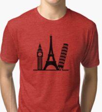 Europe / London / Paris / Pisa Tri-blend T-Shirt