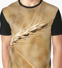 Wheat Stalk Photography Print Graphic T-Shirt