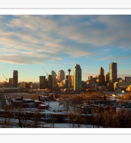 Calgary Cityscape Sunset Sticker