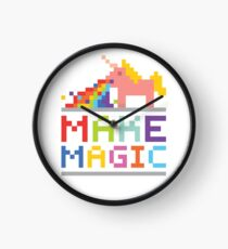 Make magic / Unicorn power Clock