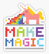 Make magic / Unicorn power Sticker