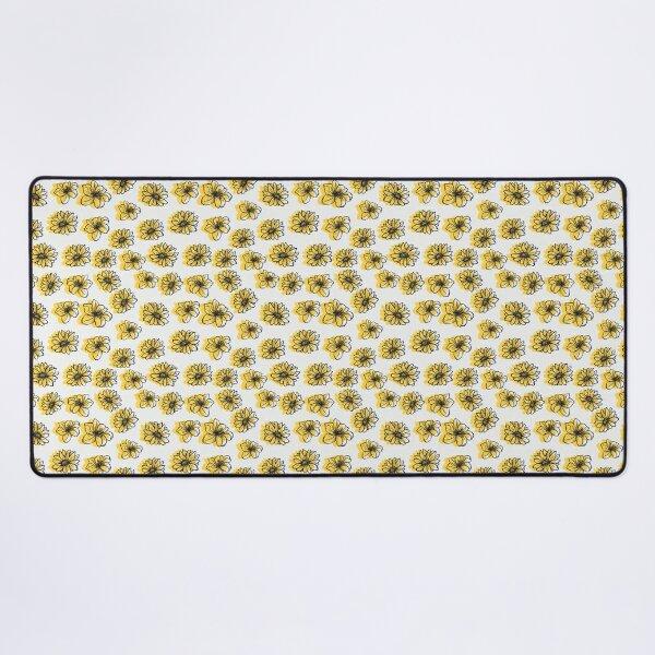 Classic yellow flowers pattern Desk Mat