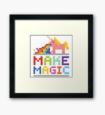 Make magic / Unicorn power Framed Print