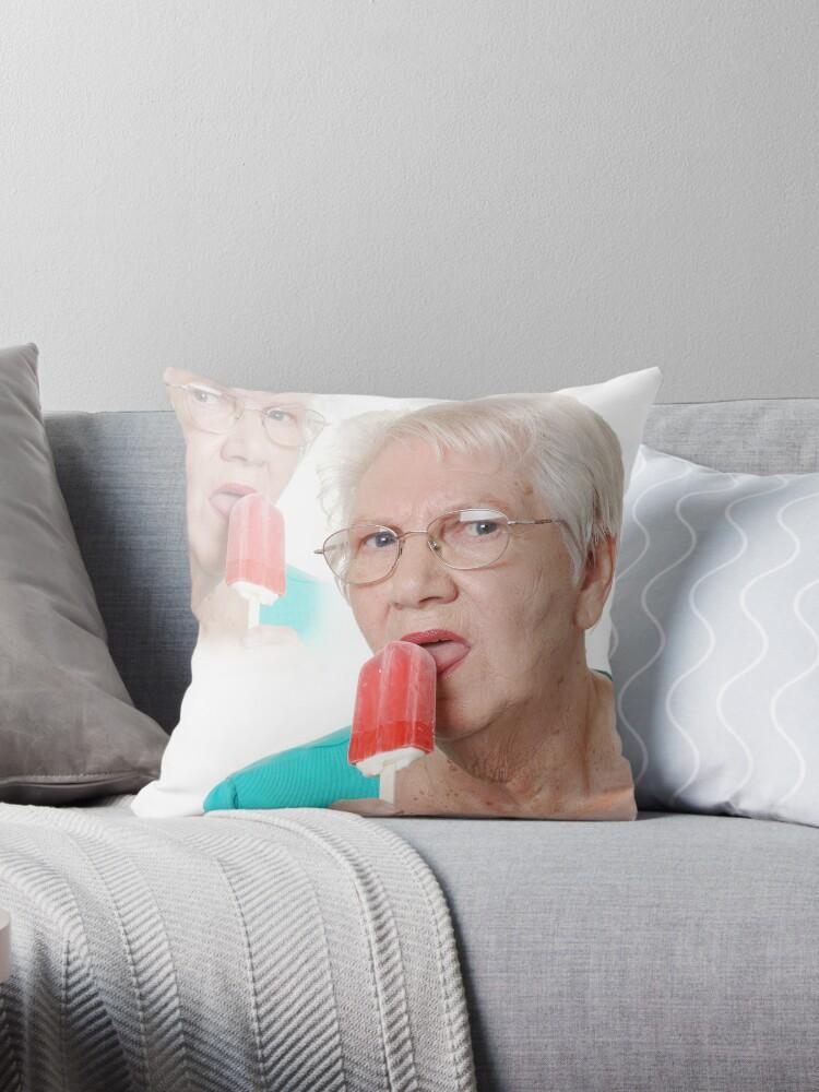 Grandma Needs An Ice Cream Throw Pillow By Reno Loves You Redbubble