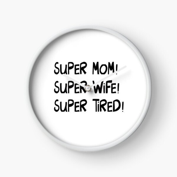 present for a happy housewife day for mum or wife Clock