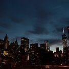 New York City Skyline - by night by Olivia Son