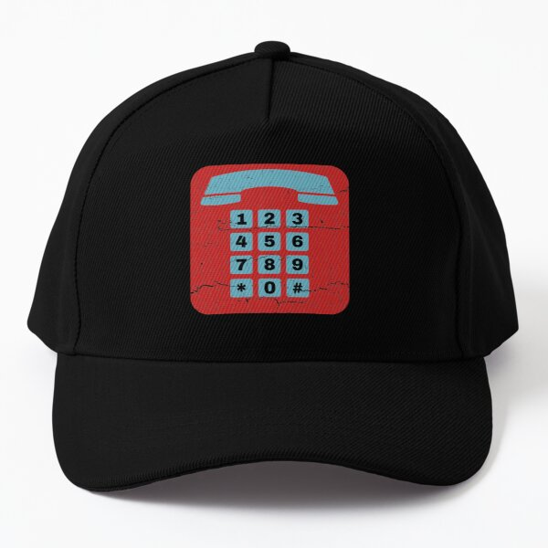 Retro Phone, Numberblocks, Phone Number, Counting, Numeric Baseball Cap