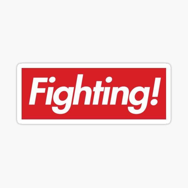 Fighting- Red Design Sticker