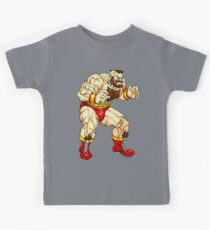Zangief - russian fighter Kids Tee