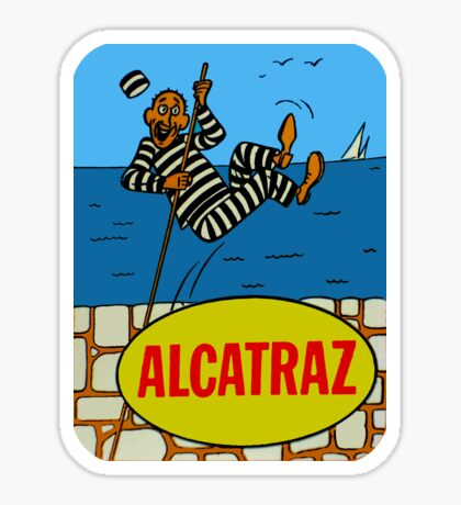 Alcatraz Island Prison Vintage Travel Decal Sticker