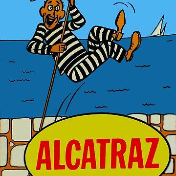 Calcomanía de viaje de la prisión de la isla de Alcatraz de hilda74