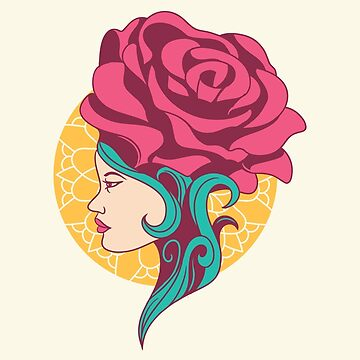 floral girl by motymotymoty