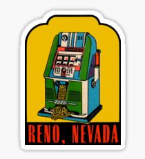 Reno Nevada Vintage Travel Decal Sticker