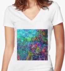 Qualia's Reef Right Women's Fitted V-Neck T-Shirt