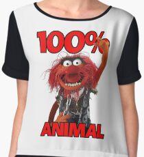 Muppets 100 Animal oder Geburtstagsgeschenk Chiffon Top