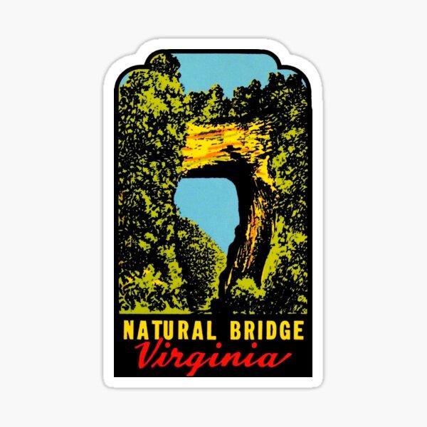 Natural Bridge Virginia Vintage Travel Decal Sticker