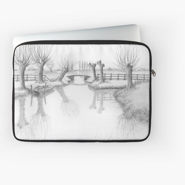 REAL DUTCH - PENCIL DRAWING Laptop Sleeve