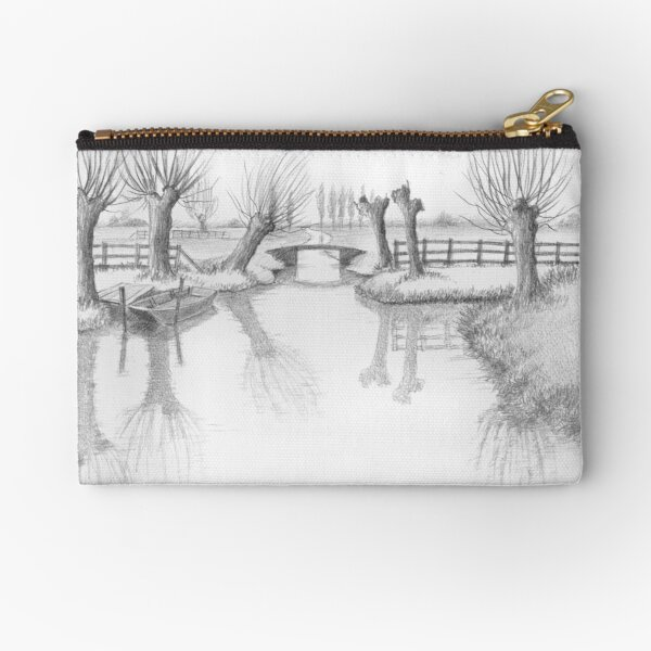 REAL DUTCH - PENCIL DRAWING Zipper Pouch