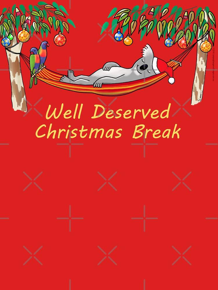 Koala Relaxing on its Hammock on a Well Deserved Christmas Break by JumpingKangaroo
