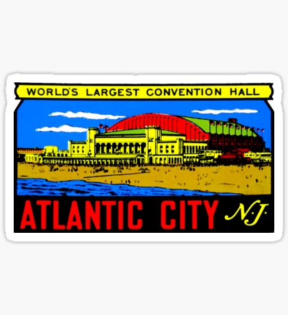 Atlantic City Vintage Travel Decal Sticker