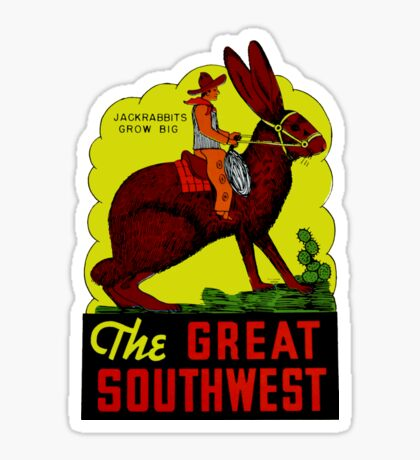 The Great Southwest Vintage Travel Decal Sticker