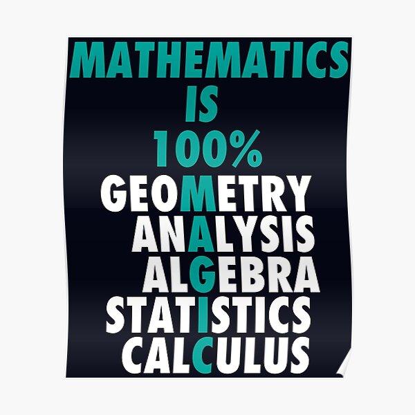 Math Is 100% Magic Poster