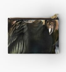 Andean Condor Portrait. I think she's beautiful but to her I am just another piece of meat. Studio Pouch