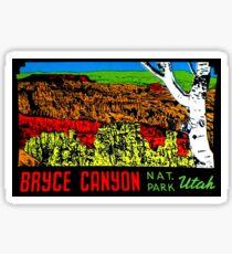 Bryce Canyon National Park Utah Vintage Travel Decal 2 Sticker