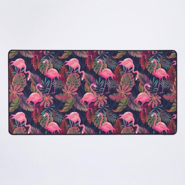 Flamingo Tropical Pattern Desk Mat