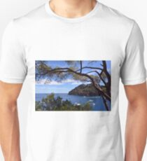 Natural landscape with boats in the water in Portofino, Italy. T-Shirt