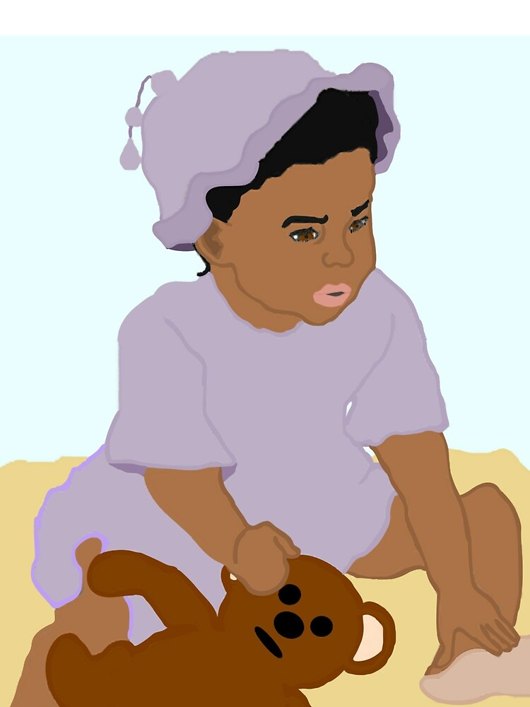 Toddler and Teddy by PharrisArt