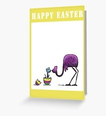 Happy Easter Emu Cute Card Greeting Card