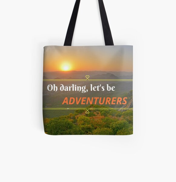 Oh Darling Let's Be Adventurers  All Over Print Tote Bag