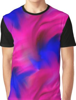 Hot Pink And Blue Abstract Strokes Graphic T-Shirt