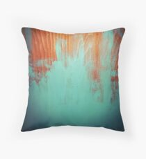 Copper Teal Scratches Throw Pillow